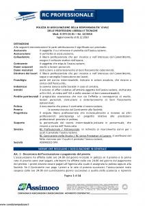 Assimoco - Rc Professionale - Modello d-375-cg-01 Edizione 12-2010 [14P]
