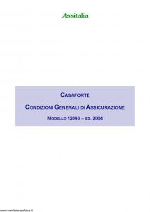 Assitalia - Casaforte - Modello 12093 Edizione 2004 [21P]