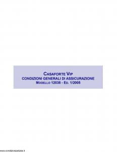 Assitalia - Casaforte Vip - Modello 12038 Edizione 01-2005 [13P]