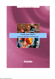 Assitalia - Polizza Danni Indiretti - Modello 11144 Edizione 2001 [14P]