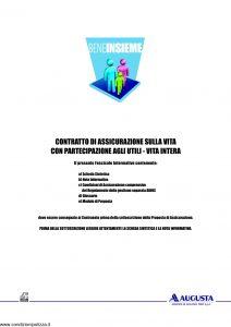 Augusta - Bene Insieme Contratto Di Assicurazione Sulla Vita - Modello av1269e.011 Edizione 09-2011 [42P]