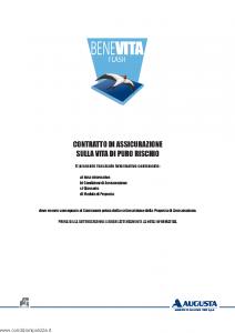 Augusta - Benevita Flash Contratto Di Assicurazione Sulla Vita Di Puro Rischio - Modello av1008e.011 Edizione 30-09-2011 [30P]