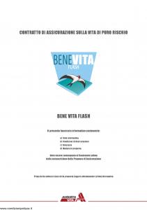 Augusta - Benevita Flash Contratto Di Assicurazione Sulla Vita Di Puro Rischio - Modello nd Edizione 10-2005 [26P]