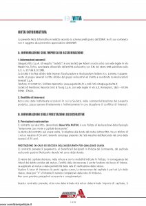 Augusta - Benevita Mutuo Contratto Di Assicurazione - Modello 1125 Edizione 30-04-2009 [30P]