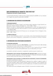 Augusta - Benevita Plus Contratto Di Assicurazione Sulla Vita Di Puro Rischio - Modello av1007.009 Edizione 01-10-2009 [40P]