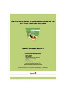 Augusta - Risparmio Protetto Contratto Di Assicurazione Sulla Vita - Modello 1142 Edizione 12-2006 [68P]
