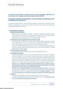 Augusta - Risparmio Protetto Contratto Di Assicurazione Sulla Vita - Modello av1242.d11 Edizione 10-2011 [70P]