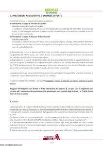 Augusta - Sei Garantito Contratto Di Assicurazione Sulla Vita - Modello av1269e.009 Edizione 09-2009 [42P]