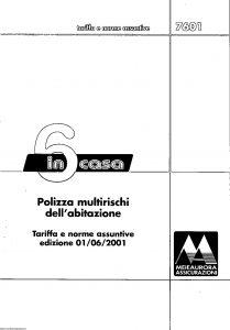Aurora - 6Incasa Tariffe E Norme Assuntive - Modello U7601T Edizione 06-2001 [SCAN] [12P]