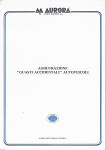 Aurora - Assicurazione Guasti Accidentali Autoveicoli - Modello 720 Edizione 10-1986 [4P]