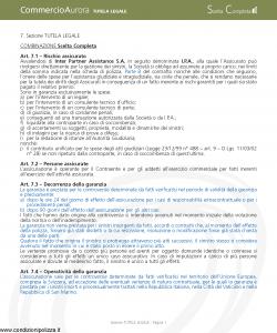 Aurora - Commercio Aurora Tutela Legale - Modello u7614a-4 Edizione 02-2008 [8P]