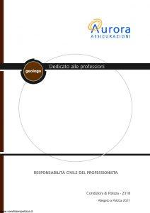 Aurora - Dedicato Alle Professioni Geologo Responsabilita' Civile Del Professionista Allegato 2027 - Modello 2318 Edizione 04-2004 [22P]