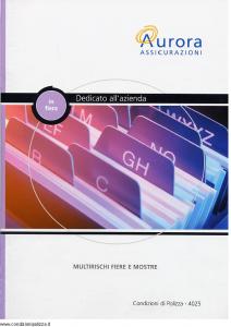 Aurora - In Fiera Dedicato All'Azienda - Modello u4025a Edizione 01-04-2004 [14P]