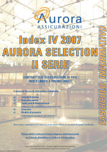 Aurora - Index Iv 2007 Aurora Selection Ii Serie - Modello 743e Edizione 05-2007 [44P]