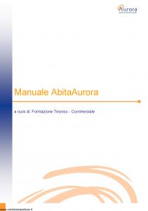 Aurora - Manuale Abita Aurora - Modello nd Edizione nd [57P]