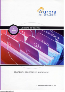 Aurora - Multirischi Dell'Esercizio Alberghiero - Modello u3019a Edizione 01-04-2004 [19P]