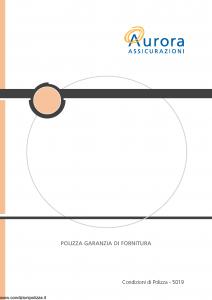 Aurora - Polizza Garanzia Di Fornitura - Modello u5019a Edizione 01-12-2005 [19P]