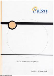 Aurora - Polizza Guasti Alle Macchine - Modello u5018a Edizione 01-04-2004 [12P]