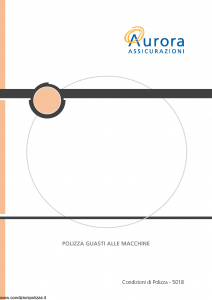 Aurora - Polizza Guasti Alle Macchine - Modello u5018a Edizione 01-12-2005 [20P]