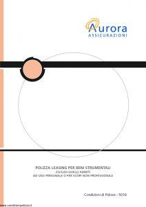 Aurora - Polizza Leasing Per Beni Strumentali - Modello 5016 Edizione 04-2004 [14P]