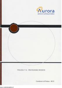 Aurora - Polizza T G Protezione Patente - Modello u9015a Edizione 01-11-2004 [13P]