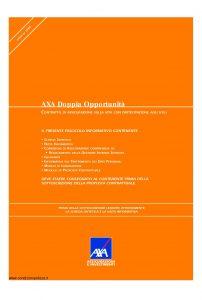 Axa - Axa Doppia Opportunita' - Modello 4744 Edizione 07-07-2008 [42P]