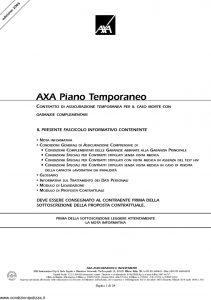 Axa - Axa Piano Temporaneo - Modello 4515 Edizione 14-11-2005 [38P]