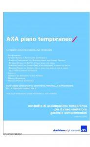Axa - Axa Piano Temporaneo - Modello 4515 Edizione 31-03-2009 [36P]