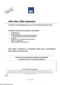 Axa - Axa Plan 2006 Selection - Modello 4689 Edizione 06-2006 [40P]