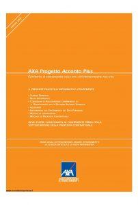 Axa - Axa Progetto Acconto Plus - Modello 4724 Edizione 31-03-2008 [42P]