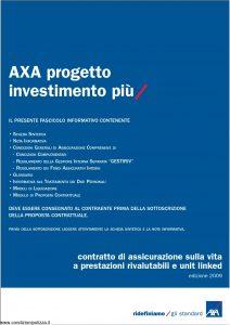 Axa - Axa Progetto Investimento Piu' - Modello 4658 Edizione 31-03-2009 [84P]