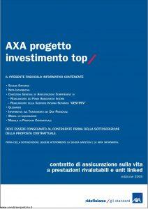Axa - Axa Progetto Investimento Top - Modello 4655 Edizione 30-09-2009 [71P]