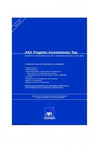 Axa - Axa Progetto Investimento Top - Modello 4655 Edizione 31-03-2008 [70P]