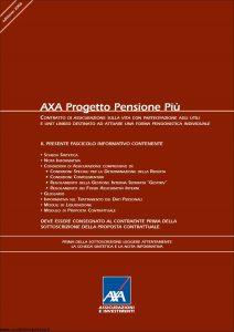Axa - Axa Progetto Pensione Piu' - Modello 4684 Edizione 15-05-2006 [100P]