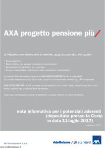 Axa - Axa Progetto Pensioni Piu' - Modello 4791 Edizione 2017 [34P]