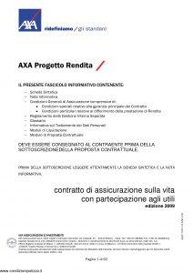Axa - Axa Progetto Rendita - Modello 4624 Edizione 03-2009 [62P]