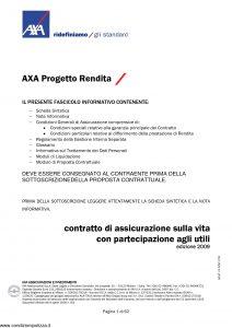 Axa - Axa Progetto Rendita - Modello 4624 Edizione 2009 [62P]