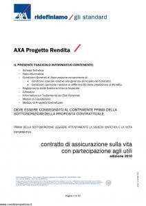 Axa - Axa Progetto Rendita - Modello 4624 Edizione 2010 [62P]