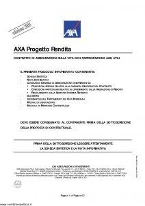Axa - Axa Progetto Rendita - Modello 4624 Edizione 30-11-2005 [62P]