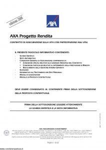 Axa - Axa Progetto Rendita - Modello 4624 Edizione 31-03-2008 [64P]