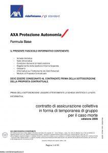 Axa - Axa Protezione Autonomia Formula Base - Modello 9062 Edizione 31-03-2009 [50P]