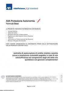 Axa - Axa Protezione Autonomia - Modello 9062 Edizione 30-09-2009 [50P]