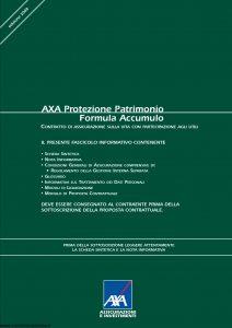 Axa - Axa Protezione Patrimonio Formula Accumulo - Modello 4649 Edizione 15-04-2008 [50P]
