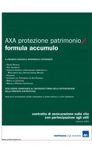 Axa - Axa Protezione Patrimonio Formula Accumulo - Modello 4649 Edizione 31-03-2009 [50P]