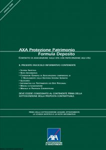 Axa - Axa Protezione Patrimonio Formula Deposito - Modello 4736 Edizione 15-04-2008 [42P]