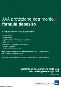 Axa - Axa Protezione Patrimonio Formula Deposito - Modello 4736 Edizione 31-03-2009 [46P]
