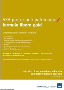 Axa - Axa Protezione Patrimonio Formula Libero Gold - Modello 4751 Edizione 19-03-2009 [42P]