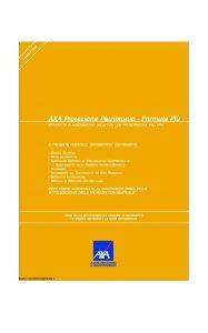 Axa - Axa Protezione Patrimonio Formula Piu' - Modello 4649 Edizione 31-03-2008 [50P]
