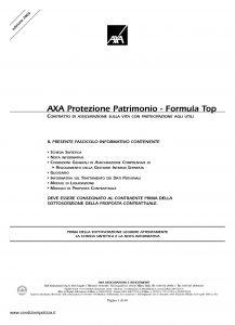 Axa - Axa Protezione Patrimonio Formula Top - Modello 4648 Edizione 24-11-2005 [40P]