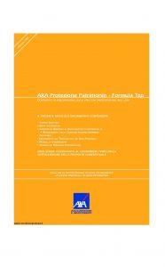 Axa - Axa Protezione Patrimonio Formula Top - Modello 4648 Edizione 31-03-2007 [47P]